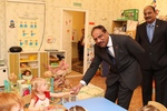 Visit of the new Director (Operations), OVL, Mr. Rao P. Krishna, to Tomsk kindergarten No. 99 for sight-impaired children. October 2014.
